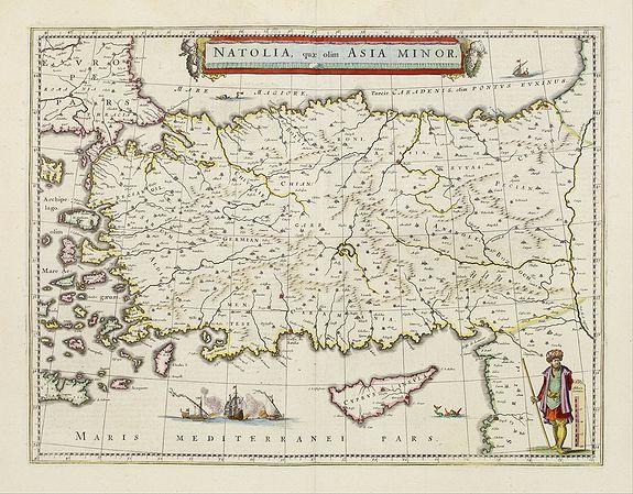 BLAEU, W. -  Natolia, quae olim Asia minor.
