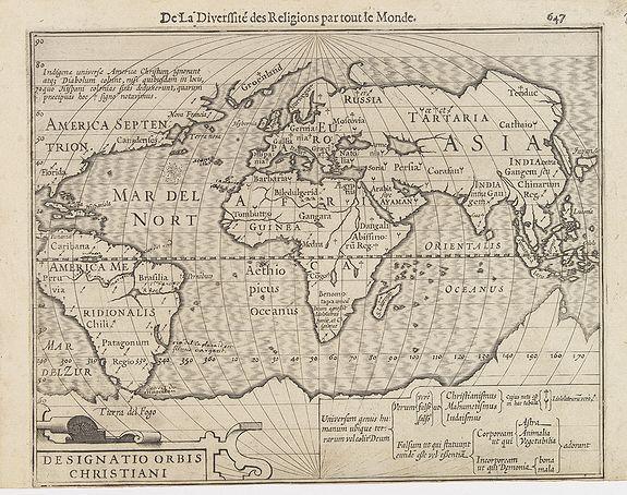 MERCATOR, G. / HONDIUS, J. -  Designatio Orbis Christiani.