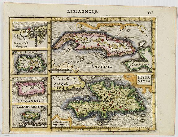 MERCATOR, G. / HONDIUS, J. -  Cuba Insula. Hispaniola.