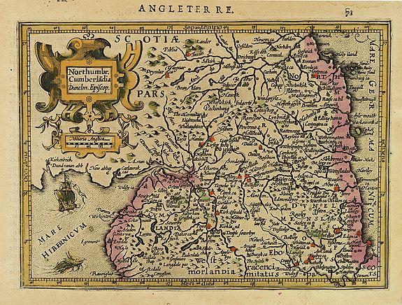 MERCATOR, G. / HONDIUS , J. -  Northumbr. Cumberladia Dunelm. Episcop.