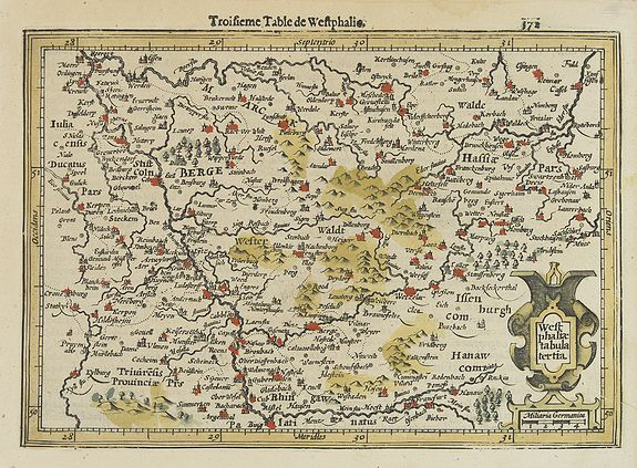 MERCATOR, G. / HONDIUS, J. -  Westphaliae tabula tertia.