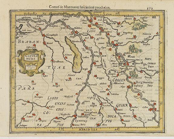 MERCATOR, G. / HONDIUS, J. -  Cleve et Murs.