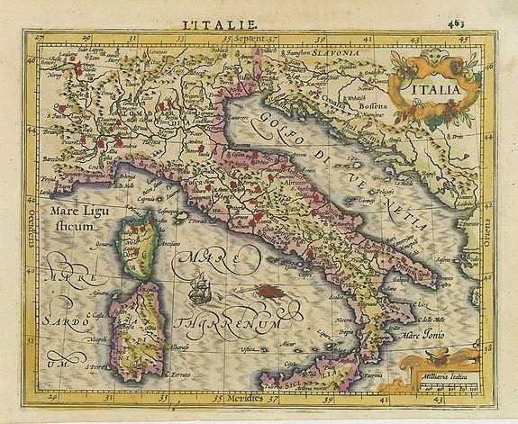 MERCATOR, G./ HONDIUS, J. -  Italia.