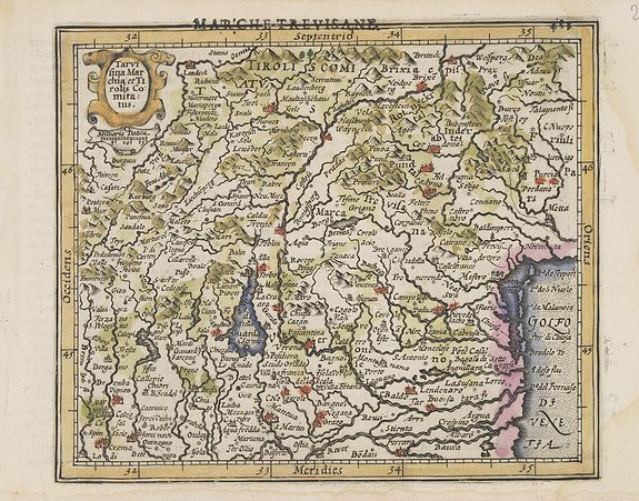 MERCATOR, G. / HONDIUS, J. -  Tarvisina Marchia et Tirolis Comitatus.