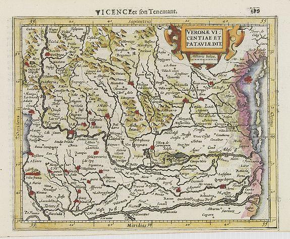 MERCATOR, G. / HONDIUS, J. -  Veronae Vicentiae et Pataviae Dit.