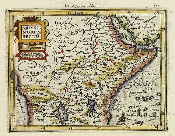 MERCATOR, G. / HONDIUS, J. -  Abissinorum Regnu.