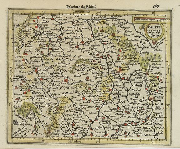 MERCATOR, G. / HONDIUS, J. -  Palatinatus Rheni.