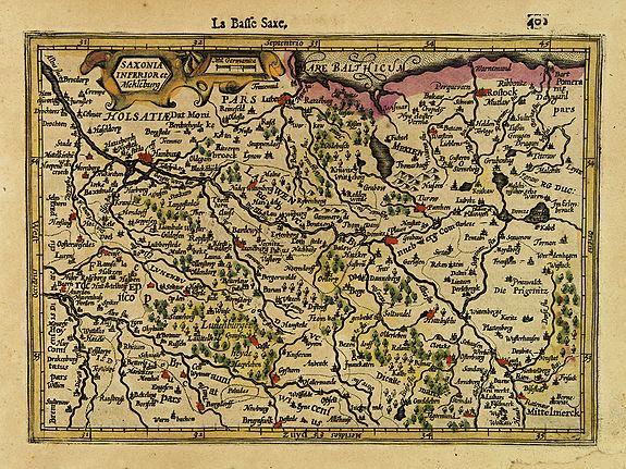 MERCATOR,G./ HONDIUS,J. -  Saxonia Inferior et Mekleburg.