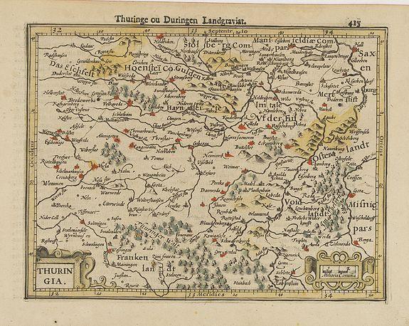 MERCATOR, G. / HONDIUS, J. -  Thuringia.
