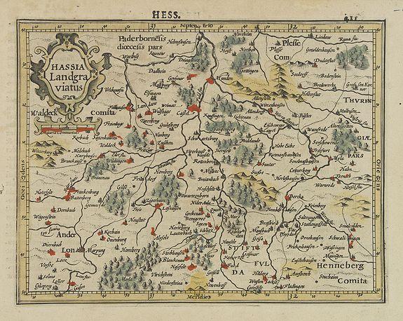 MERCATOR, G. / HONDIUS, J. -  Hassia Landgraviatus.