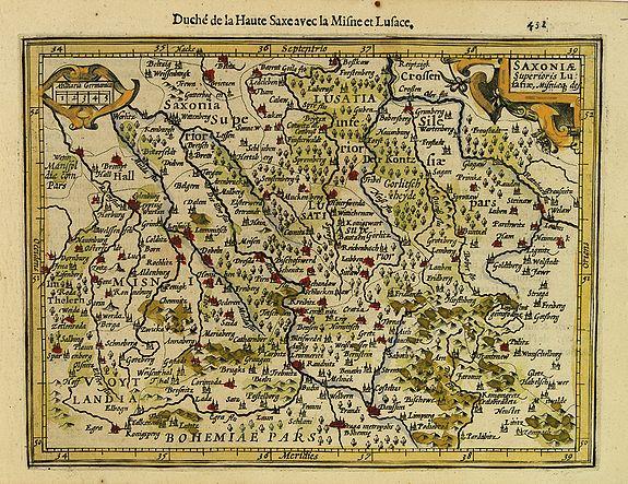 MERCATOR, G./ HONDIUS, J. -  Saxoniae  Superioris Lusatiae..