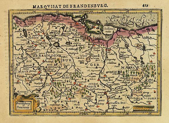 MERCATOR,G./ HONDIUS,J. -  Brandeburg et Pomerania.