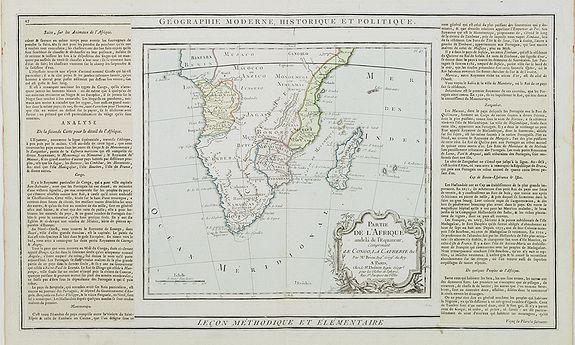 DESNOS / BRION -  Partie de L'Afrique.. Le Congo, La Cafrerie &c.