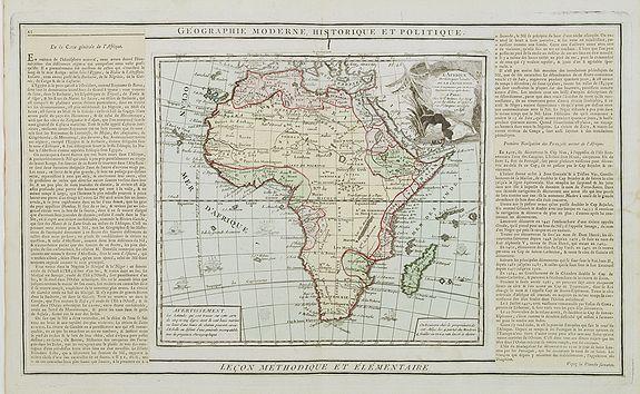 DESNOS / BRION -  L' Afrique Dressée pour l' étude de la Géographie..