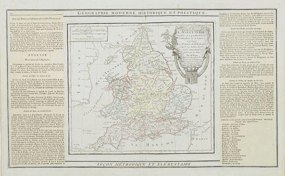 DESNOS / BRION -  L'Angleterre divisée en 5 grandes Parties. . .