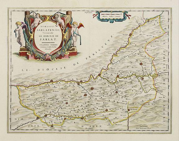 BLAEU, W. -  Dioecesis Sarlatensis, Vernacule.. Sarlat.