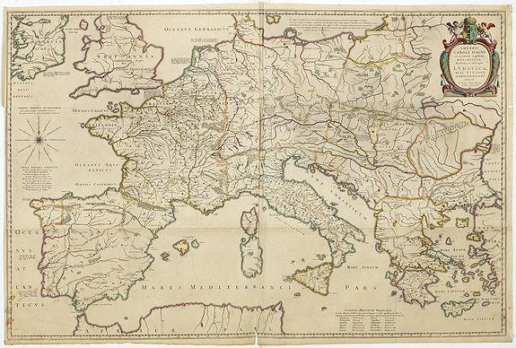 BLAEU, W. -  Imperii Caroli Magni..