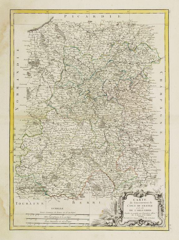 LATTRÉ / BONNE,R. -  Carte du Gouvernement de L