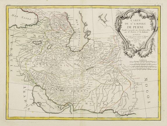 LATTRÉ / BONNE, R. -  Carte de l'Empire de Perse. . .