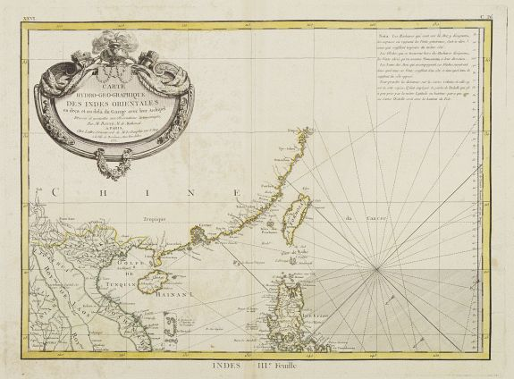 LATTRÉ / BONNE,R. -  Carte Hydro-Geo-Graphique des Indes Orientales en deça et au dela du Gange avec leur Archipel..