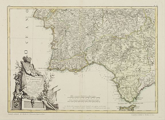 LATTRÉ / ZANNONI, R. -  Mapa dos Reynos de Portugal e Algarve. . .