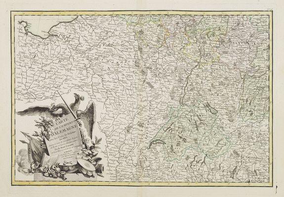 LATTRÉ / ZANNONI, R. -  Carte de L'Empire D'Alemagne avec les Etats de Bohême..