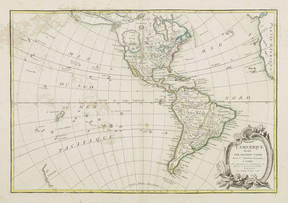 LATTRÉ / JANVIER,Sr. -  L' Amerique divisée par Grands Etats. . .