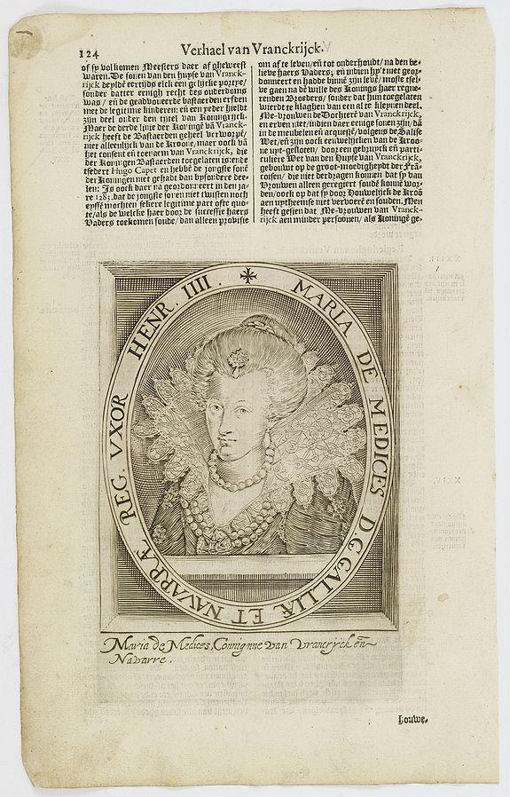 DE CLERCK, N. -  Maria De Medices D. G Galliae et Navarrae Reg. Uxor Henr. IIII.