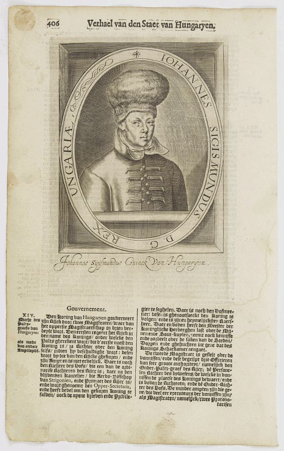 DE CLERCK, N. -  Iohannes Sigismundus D. G. Rex Ungariae..