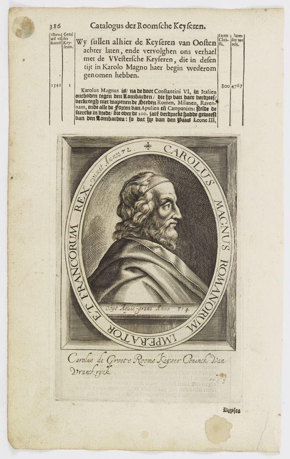 DE CLERCK, N. -  Carolus Magnus Romanorum Imperator Et Francorum Rex..