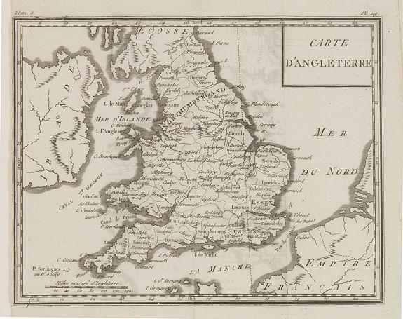 DELAPORTE, L'Abbé. -  Carte d'Angleterre.