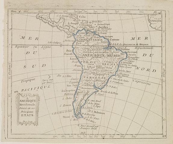 DELAPORTE, L'Abbé. -  L'Amérique Méridionale, Divisée en ses Principaux Etats.