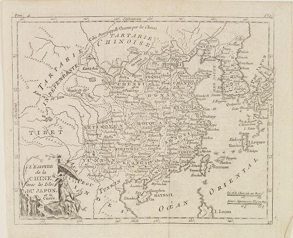 DELAPORTE,L'Abbé. -  L'Empire de la Chine, avec les Isles du Japon, et la Corée.