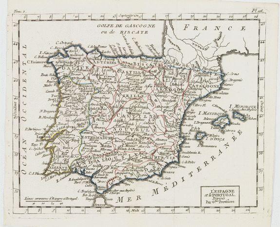 DELAPORTE, L'Abbé. -  L'Espagne et le Portugal. Divisés Par Gdes. Provinces.