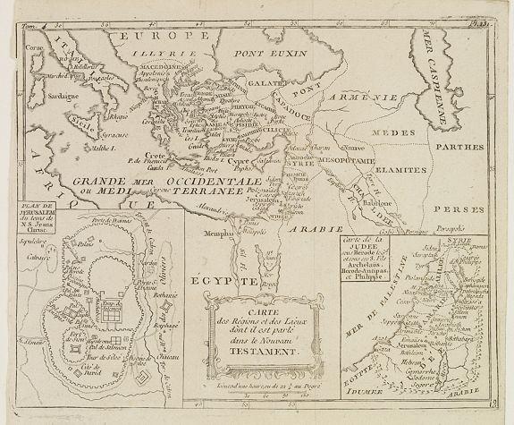 DELAPORTE, L'Abbé. -  Carte des Régions et des Lieux dont il est parlé dans le Nouveau Testament.