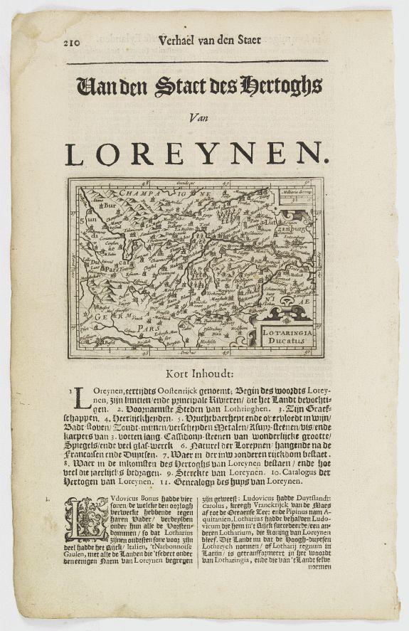 DE CLERCK, N. -  Lotaringia Ducatus.