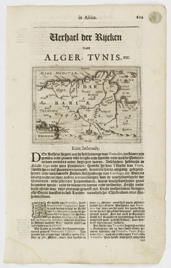 DE CLERCK, N. -  Tunetanum Regnum.