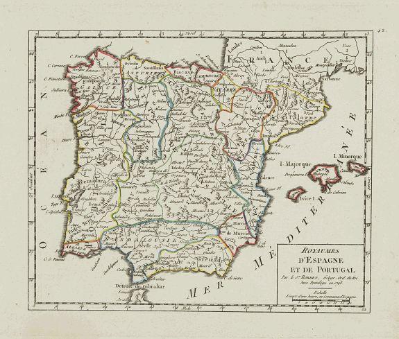 VAUGONDY, R. de -  Royaumes d'Espagne et de Portugal.