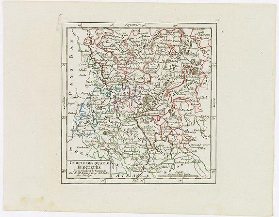 VAUGONDY, R. de -  Cercle des quatre Electeurs.