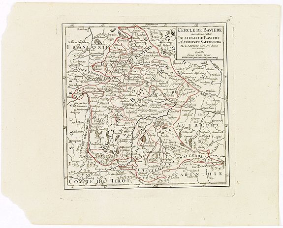 VAUGONDY, R. de -  Cercle de Baviere où se trouvent le Palatinat de Baviere et l'Archev. De Saltzbourg.