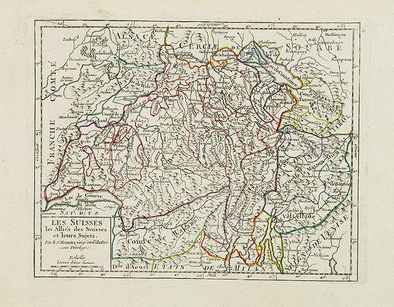 VAUGONDY, R. de -  Les Suisses, les Alliés des Suisses et leurs Sujets.