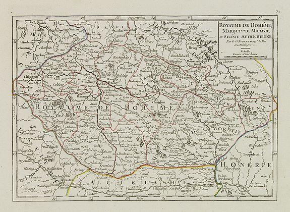 VAUGONDY, R. de -  Royaume de Bohéme, Marquisat de Moravie, et Silésie Autrichenne.