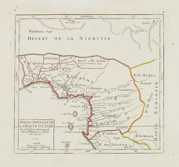 VAUGONDY, R. de -  Partie Orientale de la Haute Guinée.