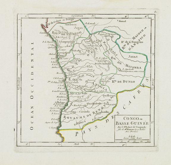 VAUGONDY, R. de -  Congo ou Basse Guinée.