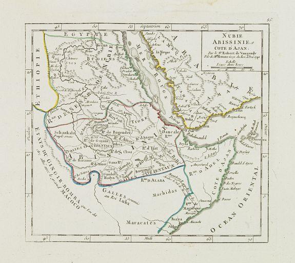 VAUGONDY, R. de -  Nubie Abissinie et Cote d'Ajan.