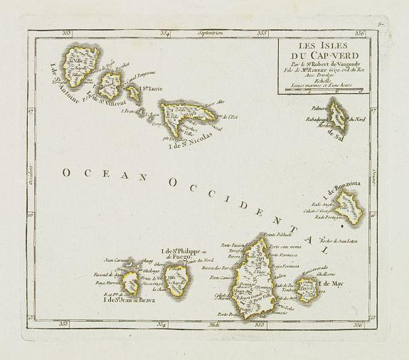 VAUGONDY, R. de -  Les Isles du Cap-Verd. . .