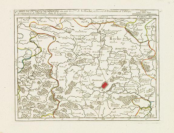 VAUGONDY, R. de -  V. Carte du D.hé de Luxembourg.. dans le Lyegeois.