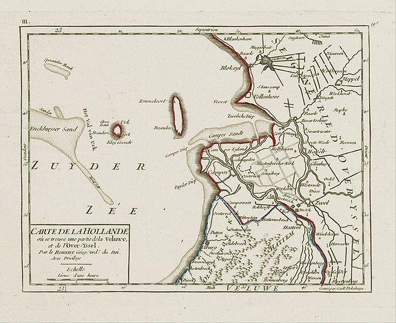 VAUGONDY,R. de -  III. Carte de la Hollande.. Over-Yssel.