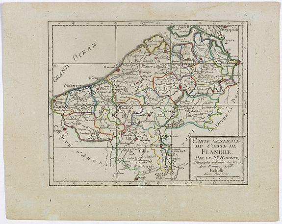 VAUGONDY,R. de -  I. Carte du Comté de Flandre où sont les env.s de l'Ecluse, d'Ardenburg.. &c.