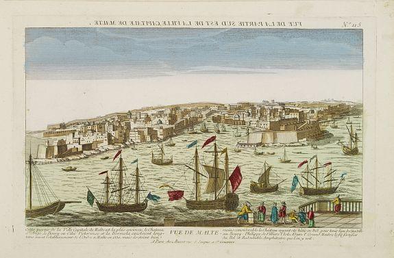 BASSET -  VUE DE MALTE. [View of Malta -Valetta].